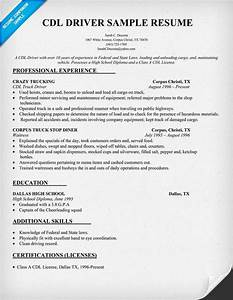 Cdl driver resume sample resumecompanioncom trucking for Cdl driver resume samples