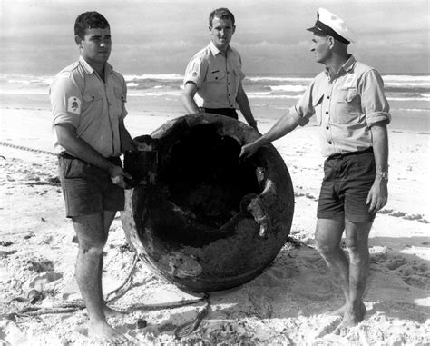 FROM the VAULT - Beached WW2 Sea-Mine, 1968/1969 - Museum