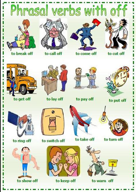 Phrasal Verbs With Off Worksheet