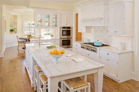 This kitchen island with table extension has been designed to include a breakfast area. 29 Creative Kitchen Island with Table Extension Designs at Kutsko Kitchen