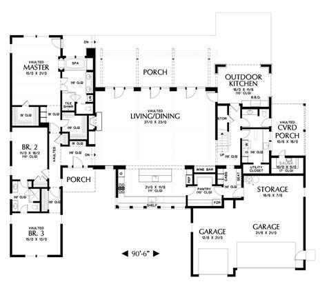 contemporary house plan   tilikum  sqft  beds  baths