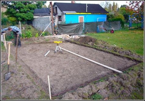 gartenhaus fundament bauen gartenhaus bauen fundament page beste wohnideen