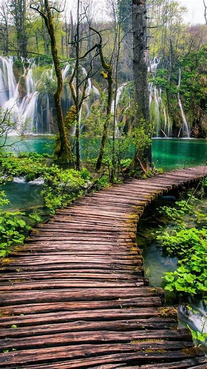 4k Water Daytime Nature Trees Waterfalls Wallpapers