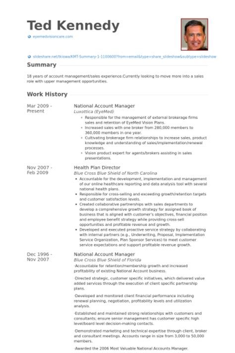 National Account Sales Manager Resume by Account Resume