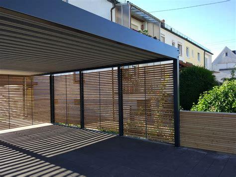 Moderne Häuser Mit Carport by Metallcarport Stahlcarport Doppelcarport Metallcarport