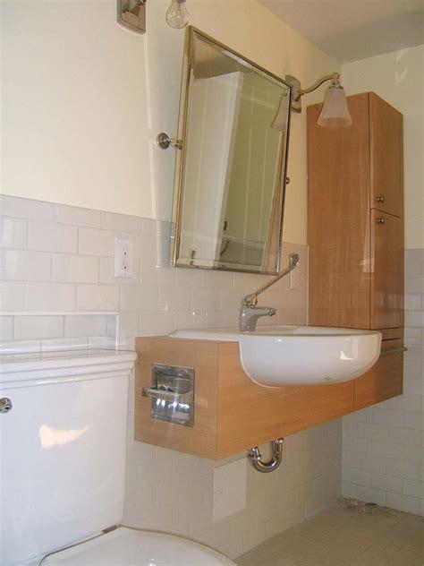 accessible bathroom sink  tilting mirror design