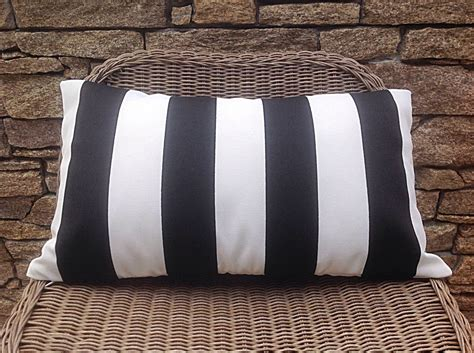 black and white striped outdoor cushions navy stripe pillows