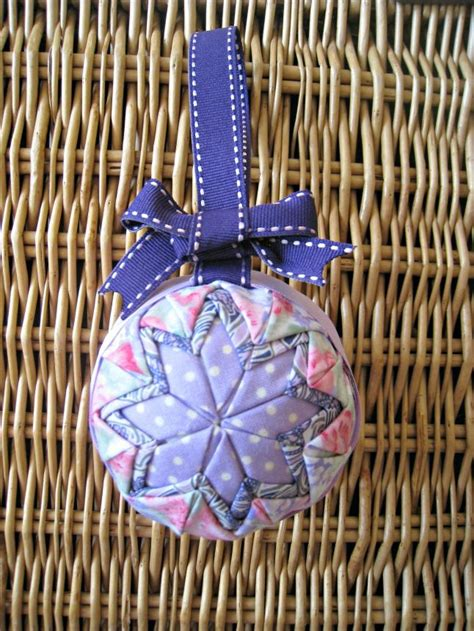 sew quilted star homemade christmas ornament