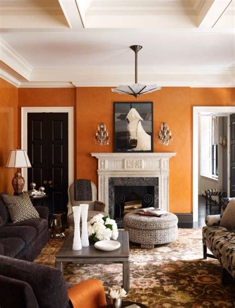 Orange Living Room Taupe Acc  Modern Home Design Ideas