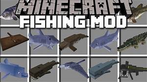 Minecraft FISH MOD / SWIM AWAY FROM SHARKS AND GIANT ...