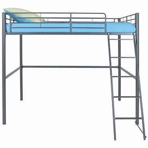 Lit En Hauteur Conforama : lit mezzanine 140x200 cm new line coloris gris vente de lit enfant conforama ~ Farleysfitness.com Idées de Décoration