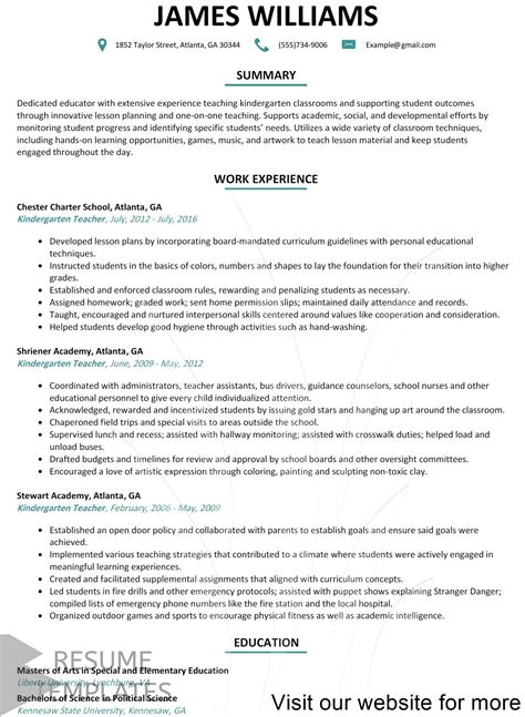 nursing resume template    teaching resume