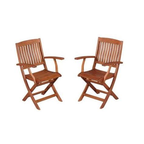 hton bay adelaide eucalyptus patio dining arm chair 2