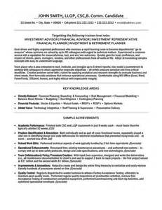 advisor resume template click here to this investment advisor resume