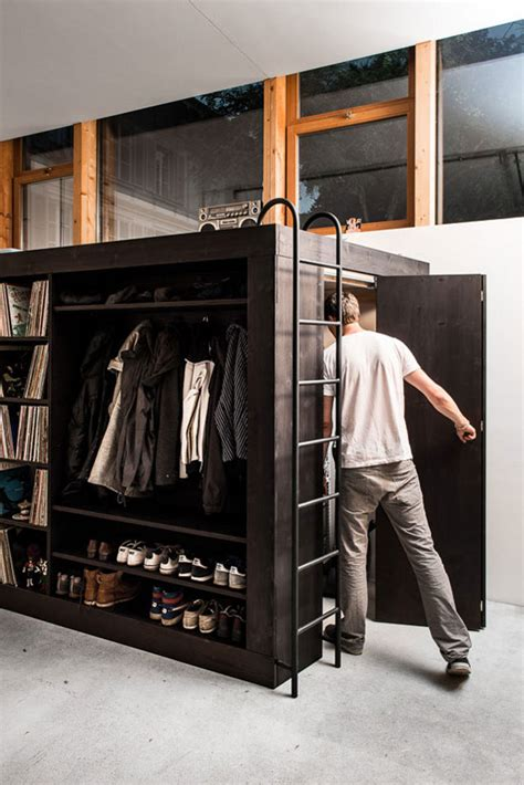 living cube combines entertainment center bookshelves