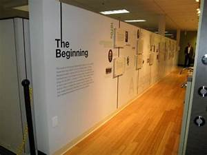 museum style wall graphics nyc acre exhibit space With museum wall lettering