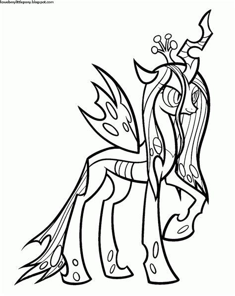 My Little Pony: Dibujos para colorear de la Reina Chrysalis de My Little Pony