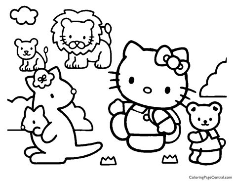 Hello Kitty Coloring Page 18 Coloring Page Central