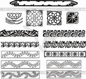 Jugendstil Florale Ornamente : florale ornamente im jugendstil schwarzwei e vektorgrafik ~ Orissabook.com Haus und Dekorationen