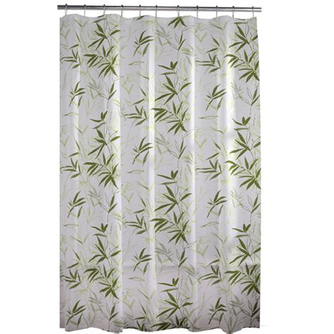 green shower curtain shop style selections peva floral green floral shower