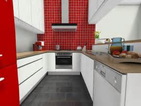 Kitchen Ideas Kitchen With Red Tile Accent Wall Huis