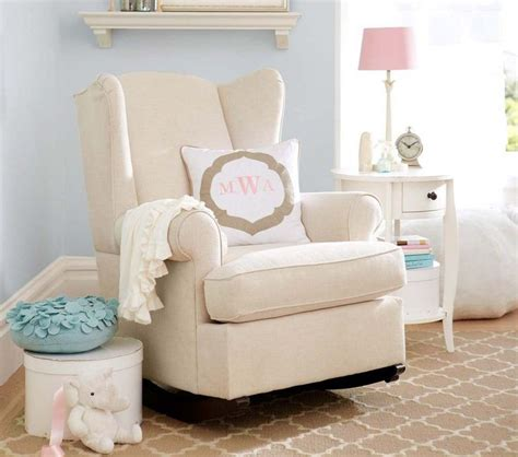 pottery barn nursery chair rocking chair style wingback convertible rocker pottery
