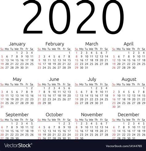 calendar sunday royalty vector image