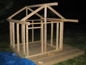 build a house free free plans for building a childs playhouse