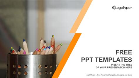 coloured pencils education  templates