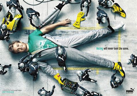 Mercedes, Puma Print Advert By