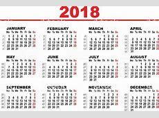 Grid Calendar For 2018 stock vector art 583724516 iStock