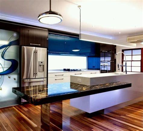 table de cuisine contemporaine 73 idées de cuisine moderne avec îlot bar ou table à manger