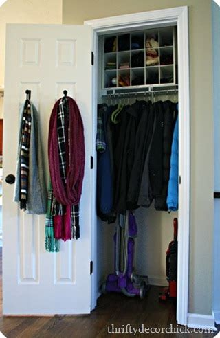 Front Closet Organization Ideas by Fix The Coat Closet From Thrifty Decor