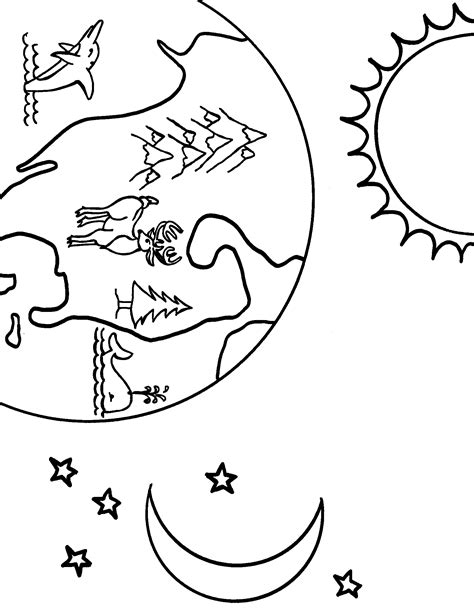 earth coloring page  cool funny