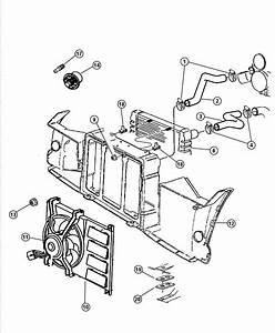 1999 Dodge Viper Hose  Coolant Reserve Tank  Radiator