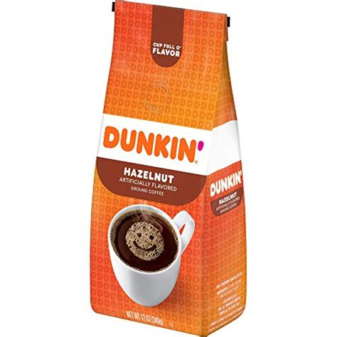 Earthy undertones and a strong hazelnut flavor make this classic roast a fan favorite. Dunkin' Hazelnut Flavored Ground Coffee, 12 Ounces- Buy Online in United Arab Emirates at ...