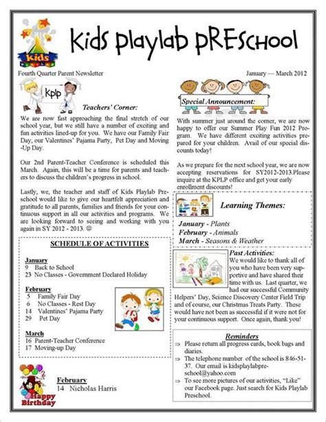 13 printable preschool newsletter templates free word 192 | 976fed620a8b23a1f0675cd3ffe581f6