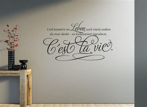 wandtattoo spruch cest la vie  ist das leben