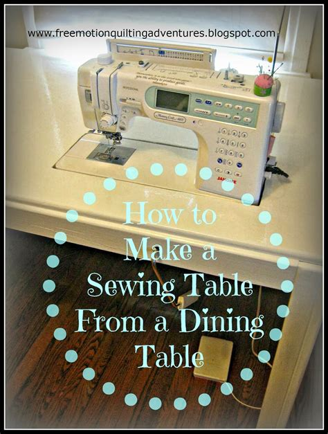 sewing machine tables for quilting amy 39 s free motion quilting adventures how to make a