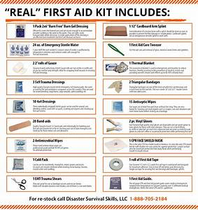 """Real"" First Aid Kit Bag with an easy to follow first aid ..."
