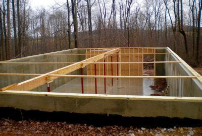 cabin foundation   build  foundation   cabin