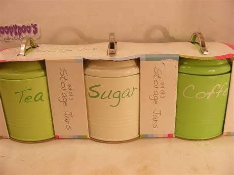 Deere Kitchen Canisters by Pink Tea Coffee Sugar Canisters The Coffee Table