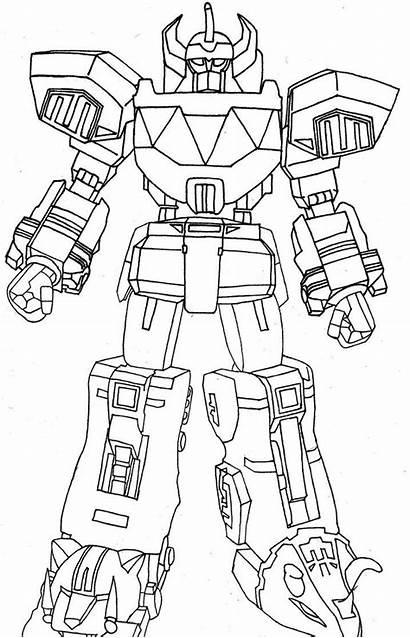 Rangers Power Megazord Coloring Ranger Mighty Morphin