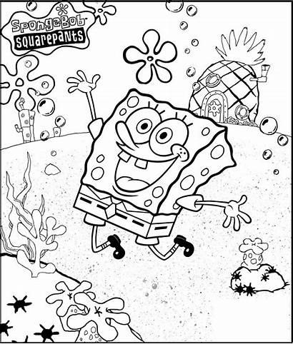 Gambar Untuk Mewarnai Spongebob Squarepants Dan Sponge