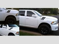 Dodge Ram Truck Rally Stripes On Hoodhtml Autos Post