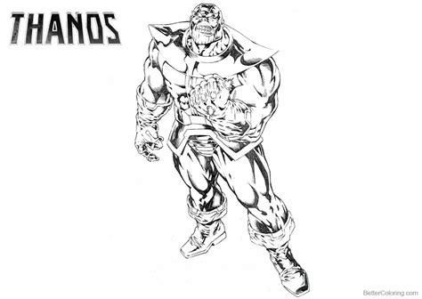 marvel avengers thanos coloring pages free printable