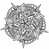 Mandala Hand Drawn Coloring Awesome Mandalas Cool Clear Pages Adult Prefer Must Few Colors Many Worries Responsibilities Allow Forget Mind sketch template