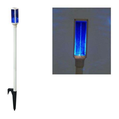 solar l posts for driveways solar led blue driveway marker stake light new ebay