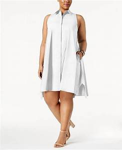 Alfani Plus Size Trapeze Shirtdress Created For Macy 39 S