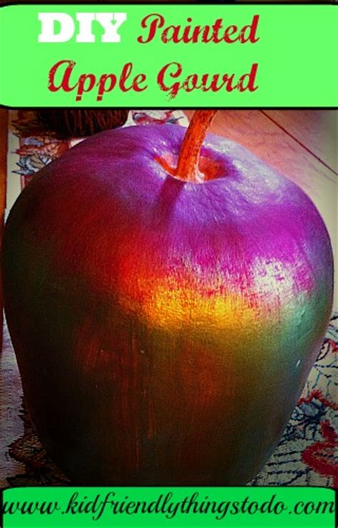 diy apple gourd kid friendly